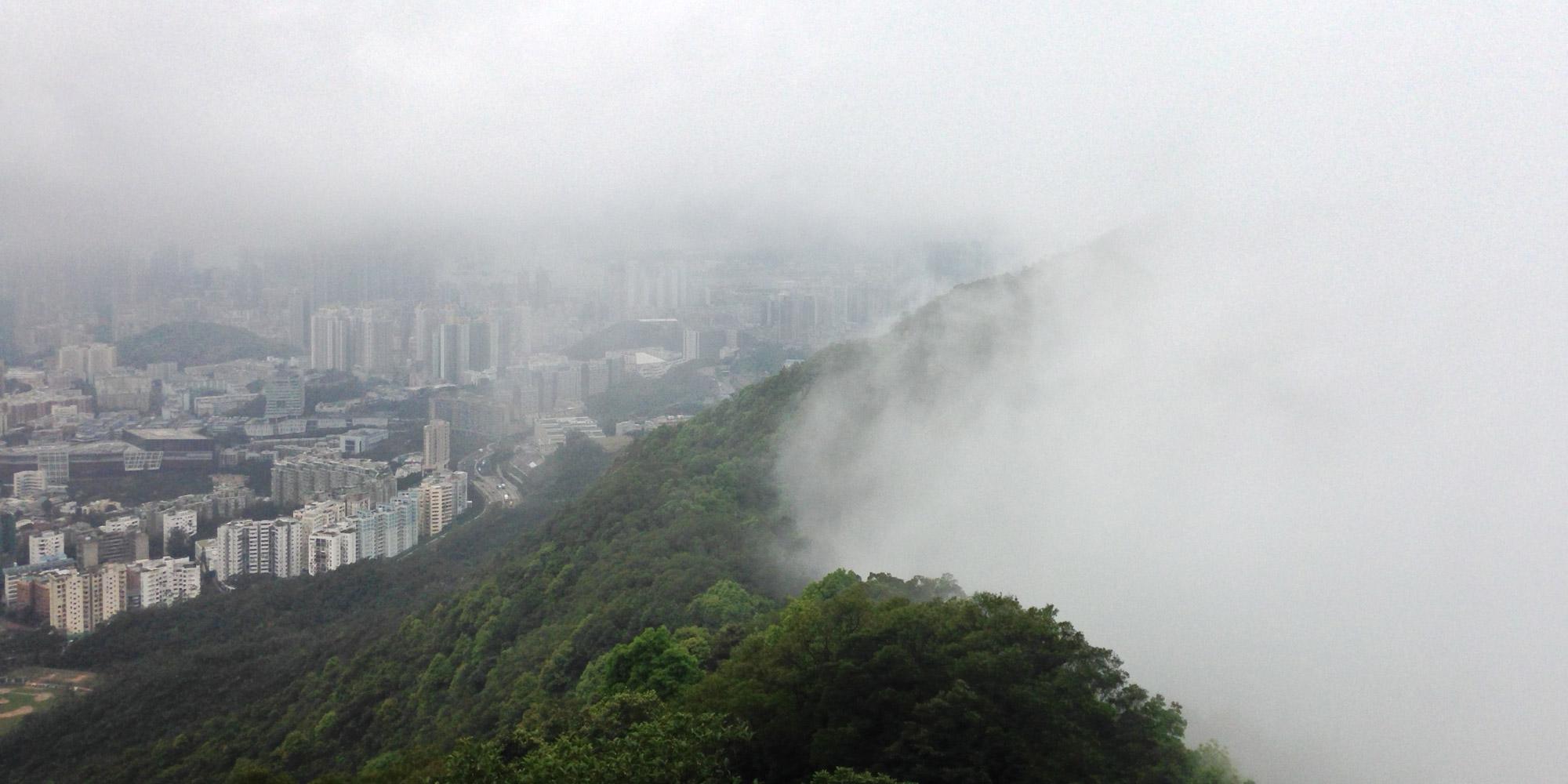 Hong kong wall of fog